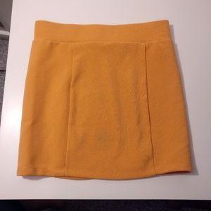 H&M Orange Stretch Mini Skirt